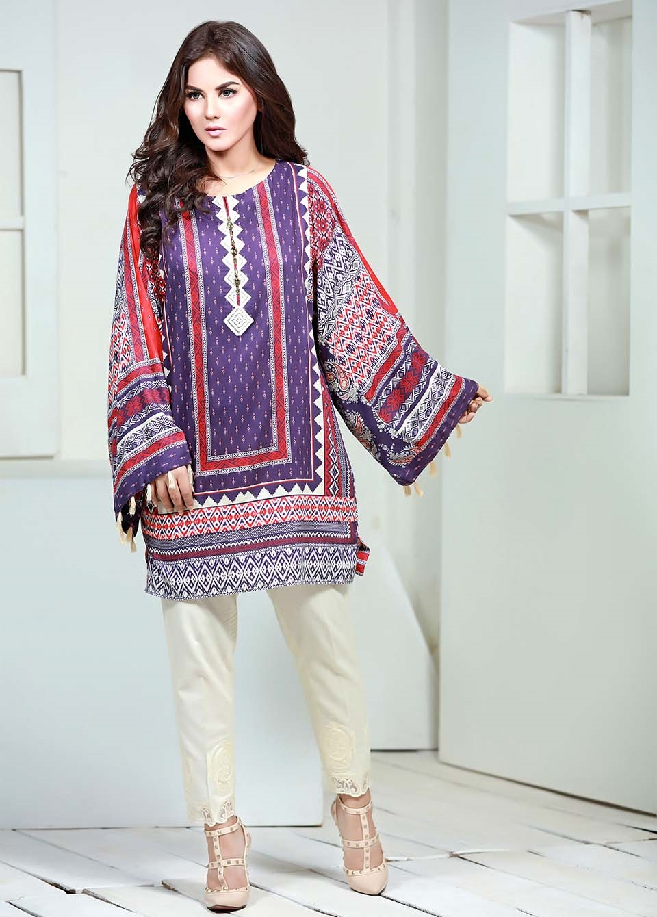 so kamal embroidered linen 1 piece suit