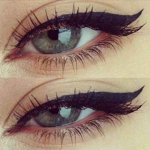 how to apply winged eyeliner (8)