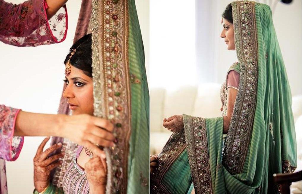 bridal dupatta draping tutorial