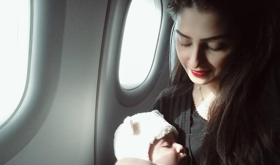 Ayeza Khan with daughter Hoorain