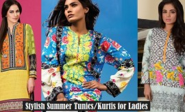 Pakistani Designer/Branded Summer Tunic and Kurti Designs 2018