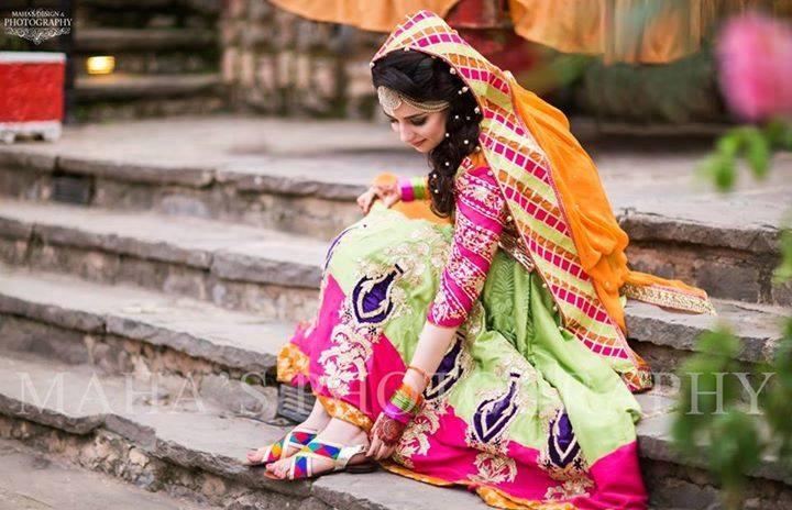 colorful bridal ghagra choli