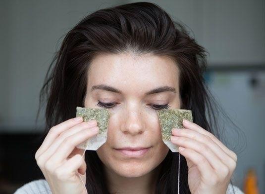 green tea bags to remove dark circles