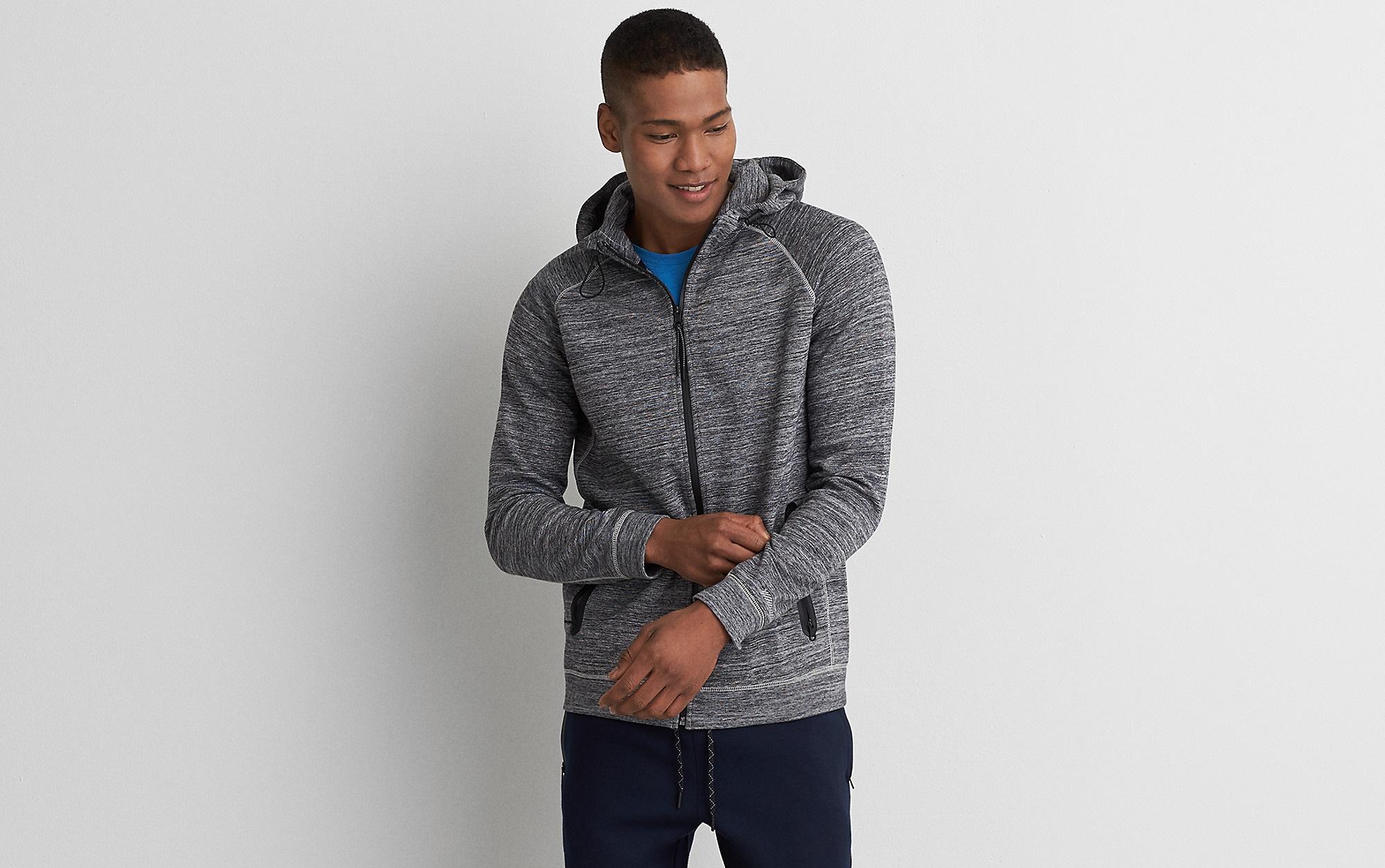 American eagle active flex full-zip hoodie for boys