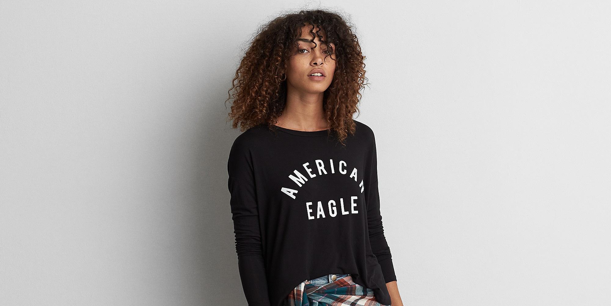 black American Eagle winter shirt for girls
