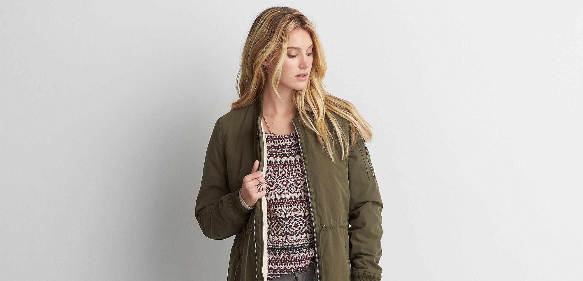 Aeo faux lined jacket by American Eagle Outfitters