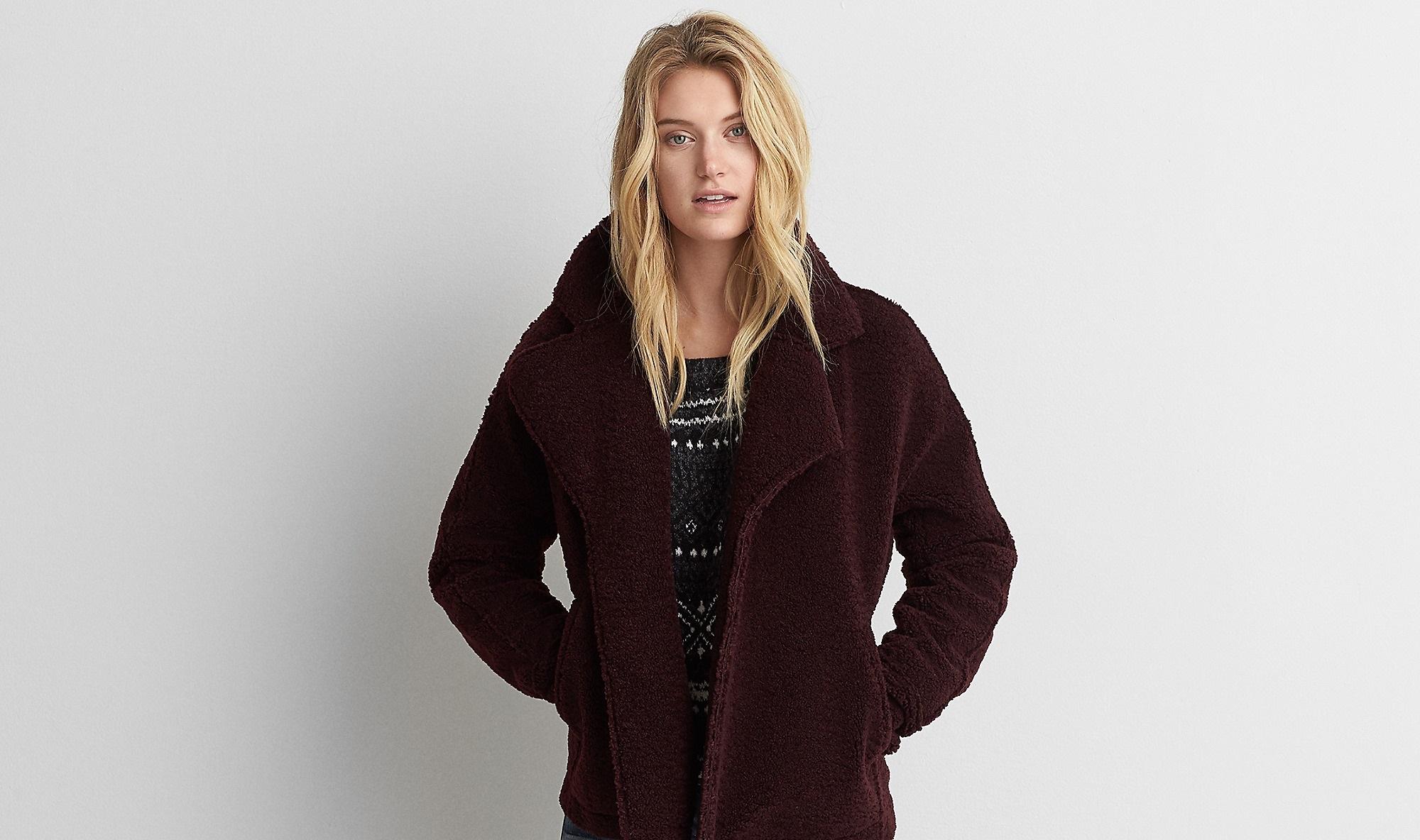 maroon soft moto jacket for girls