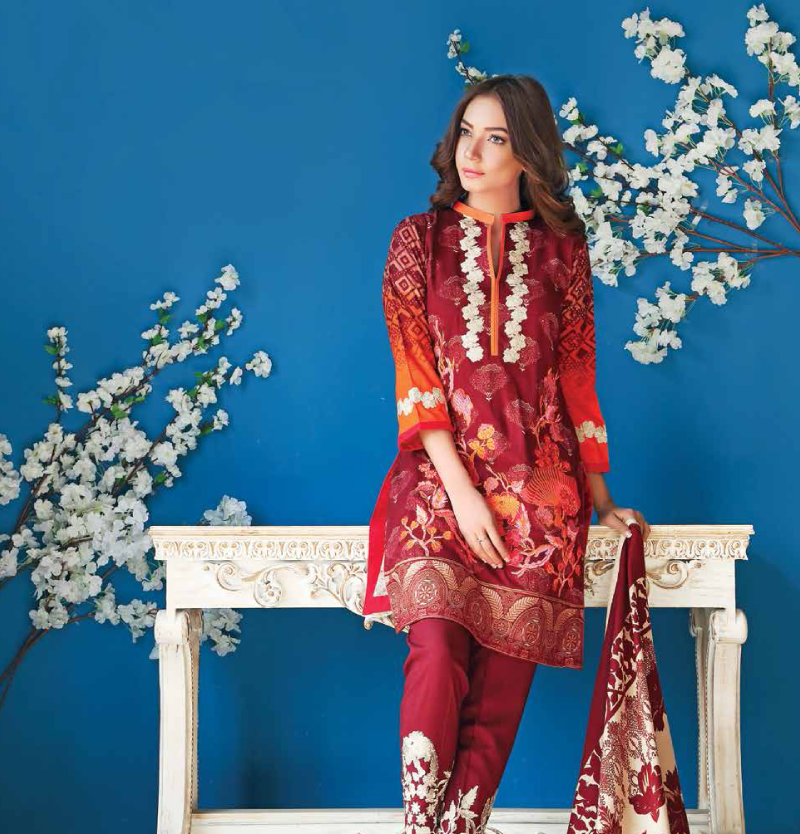 maroon winter suit with pashmina woollen shawl for women