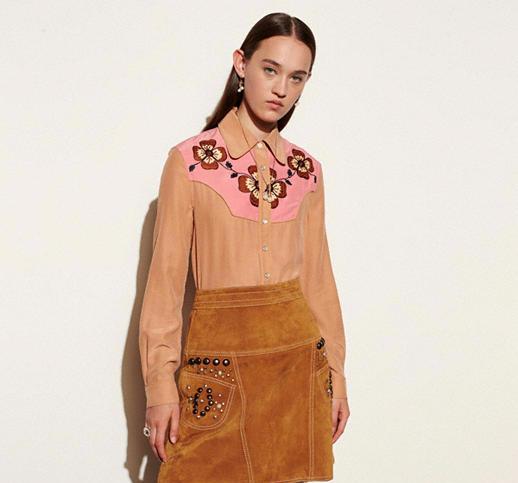 Brown Winter Western Shirt for women