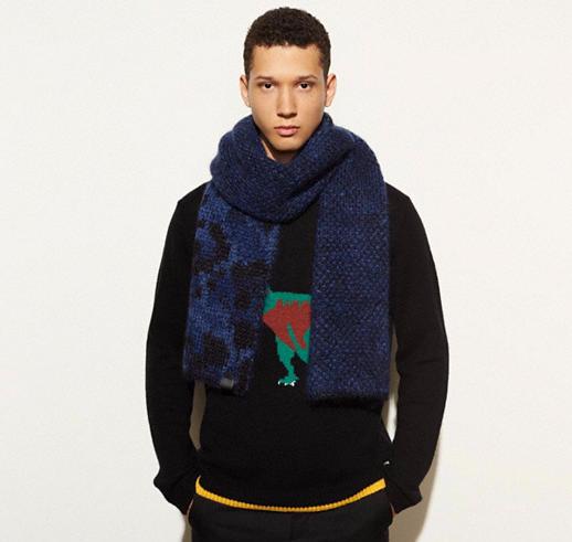 Blue Wild Beast Knit Scarf