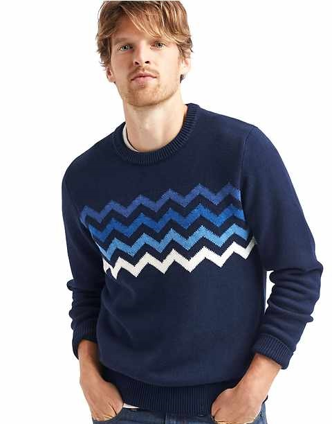chevron crew sweater by Gap Winter Collection
