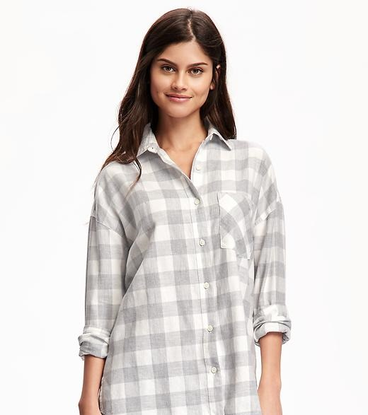 classic flannel shirt for girls by Old Navy
