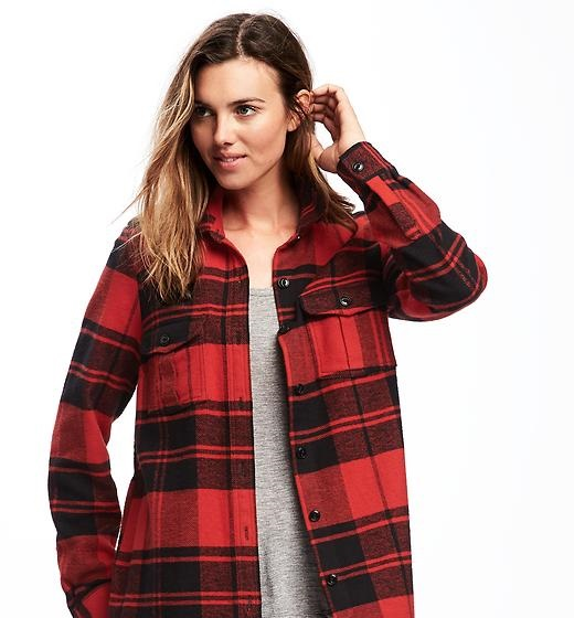 classic flannel shirt jacket for women by Old Navy 2016
