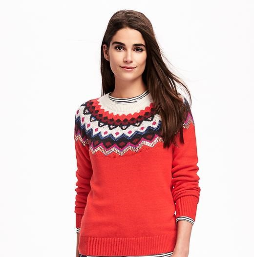 sequined fair isle sweater by Old Navy winter 2016 collection