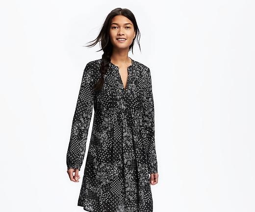 pintuck swing dress by Old Navy