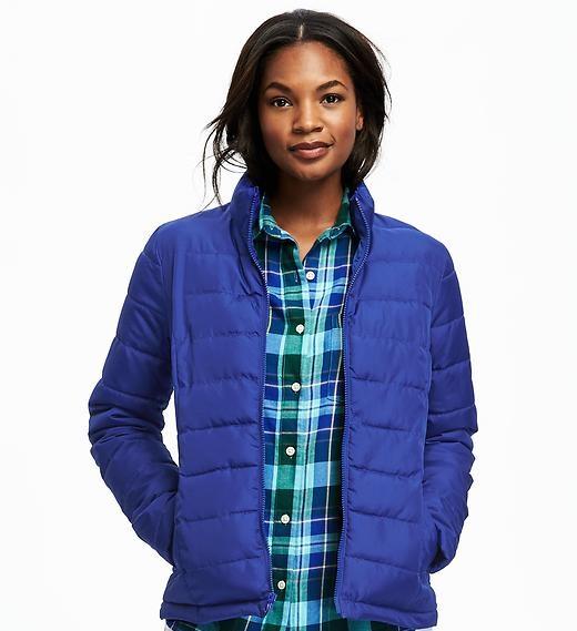 mock neck light weight frost free jacket