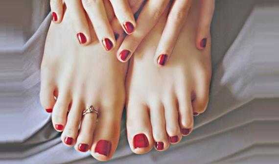 beautiful feet after pedicure