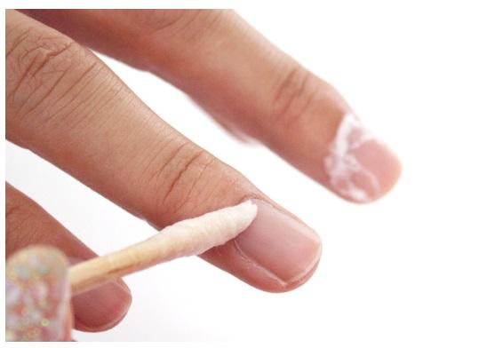 removing cuticle using cuticle cream