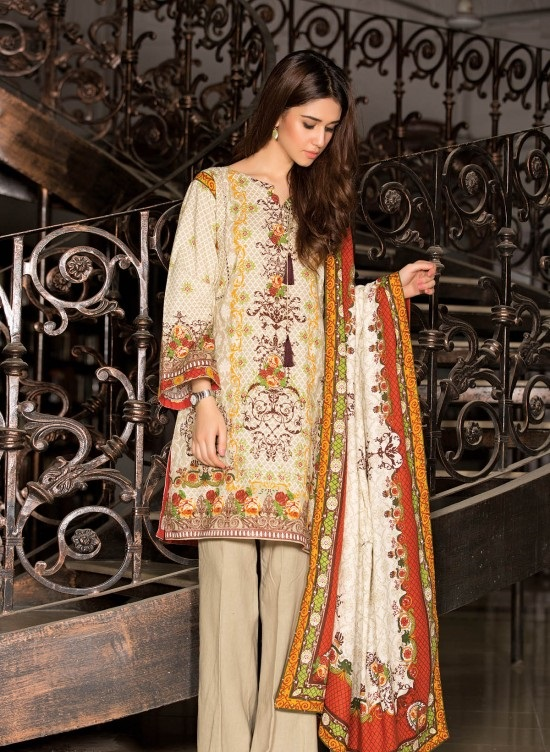 dyed khaddar full suit for winter by Kayseria Winds of Winter