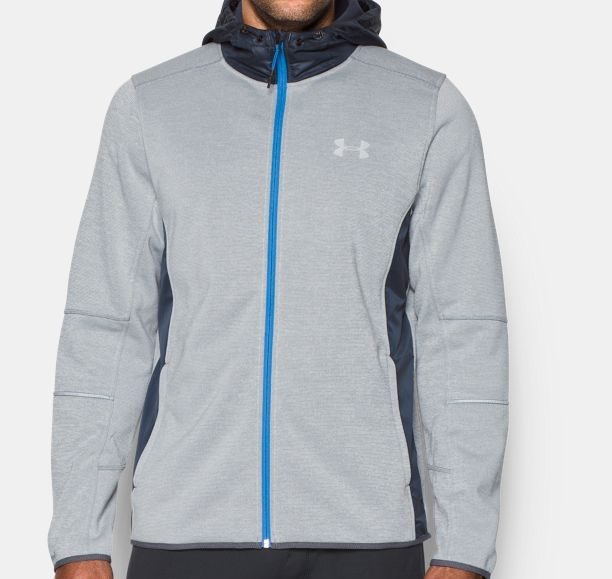 Under Armour Grey storm swacket with blue lining