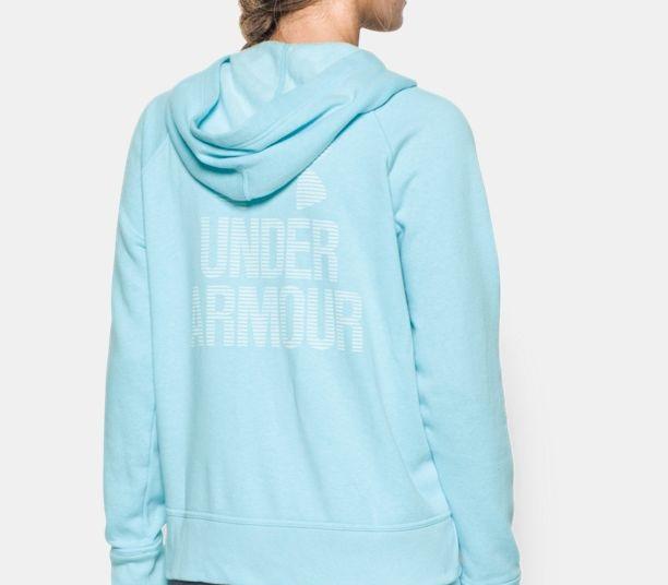 sky blue UA sportstyle favourite fleece for sports women