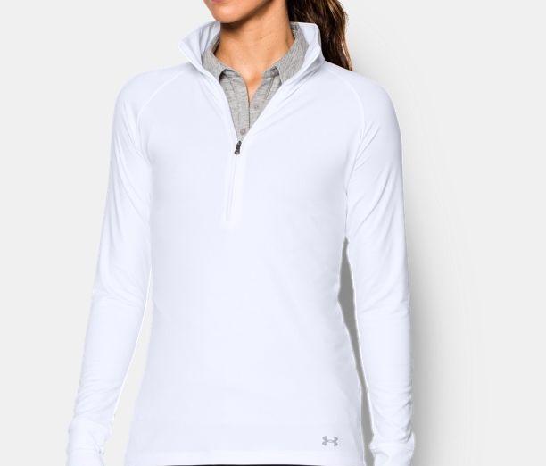 UA white Fleece shirt for cozy winters