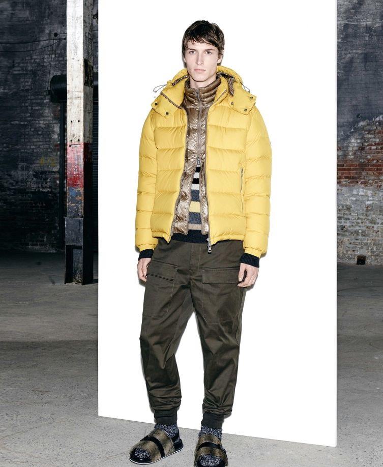 Moncler Autumn Winter warm yellow jacket