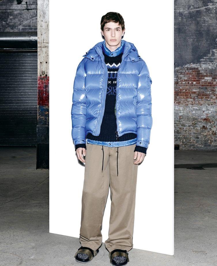 Moncler blue thick winter jacket for men