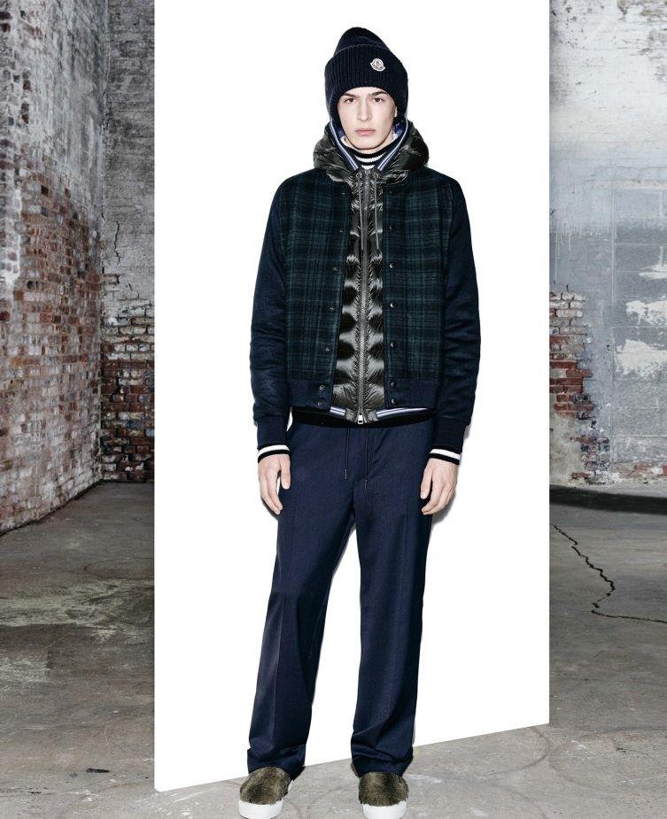 Moncler Winter crewneck check sweatshirt