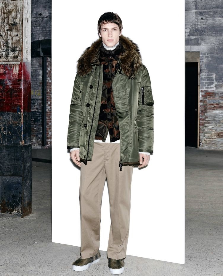 Moncler jacket with faux fur hood for winter
