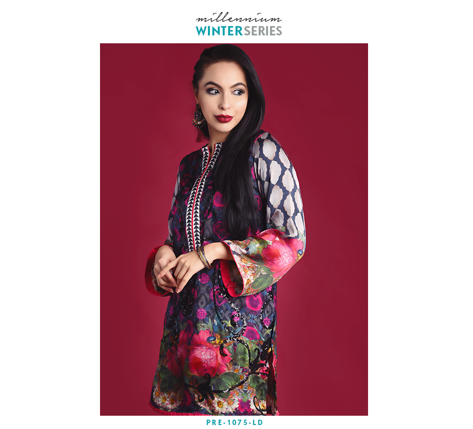 sequence and tilla embroidered formal silk shirt for winter
