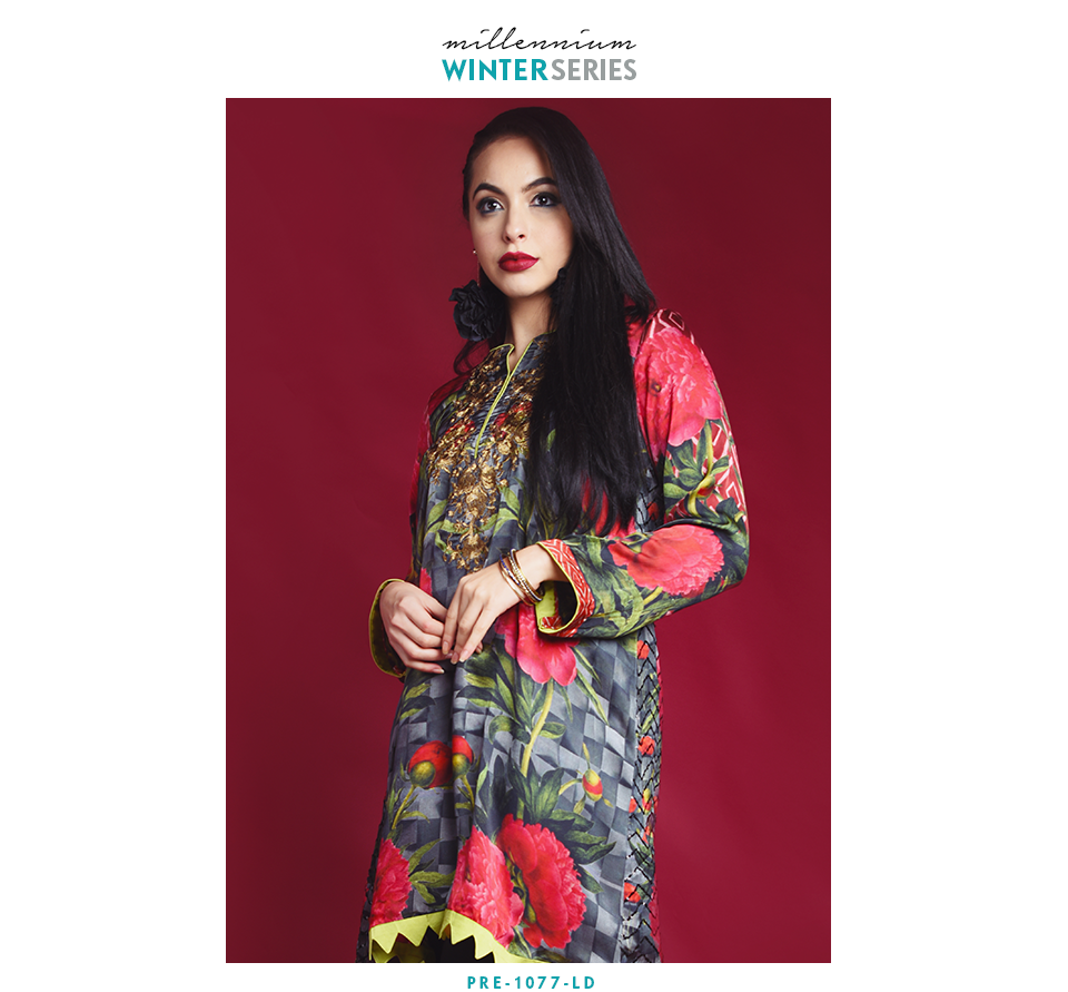 Nimsay Tilla embroidered silk shirt with sequence work on back