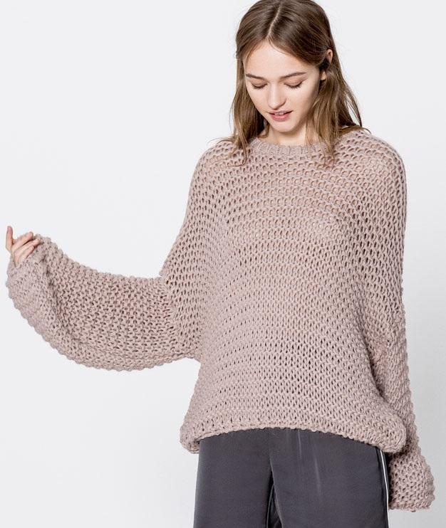 full sleeved knit winter sweater for girls