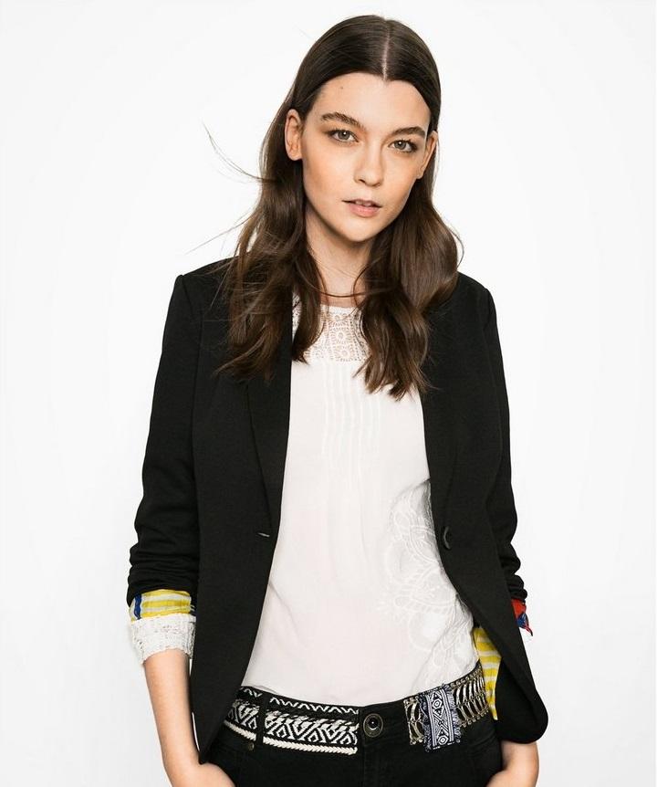 Desigaul stylish black ladies' winter blazer