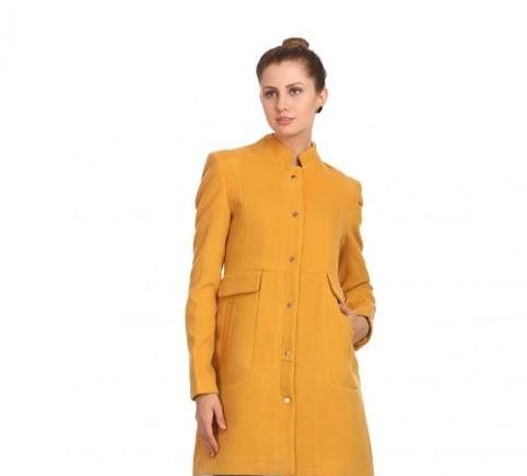 Madame Autumn Winter medium long fleece coat