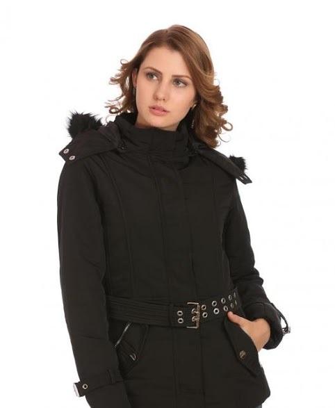 Madame black fur coat for winters