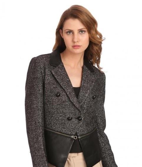 Madame Autumn Winter leather waist jacket