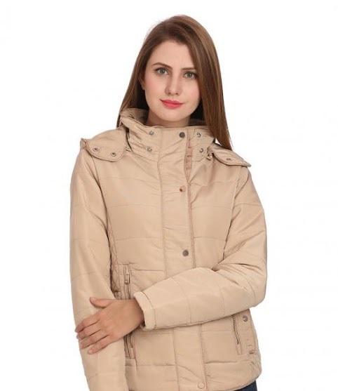 Madame winter stuffed full sleeved coat for ladies