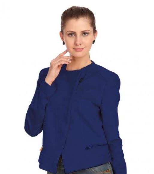 Madame royal blue mini blazer