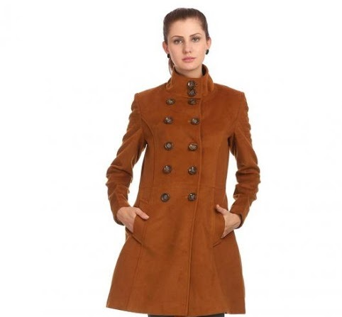Madame Winter tan peanut coat