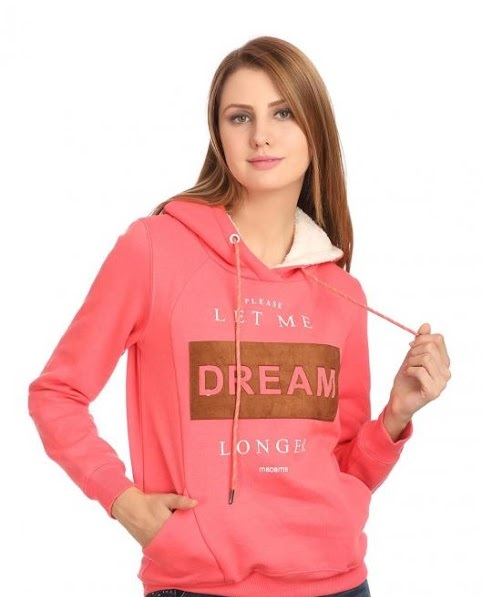Madame beautiful pink hooded Winter jacket
