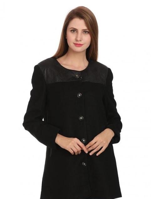 Madame Winter medium black long coat