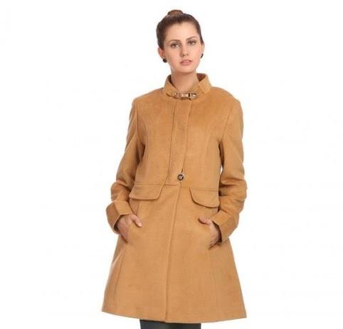 Madame Winter half and half caramel coat