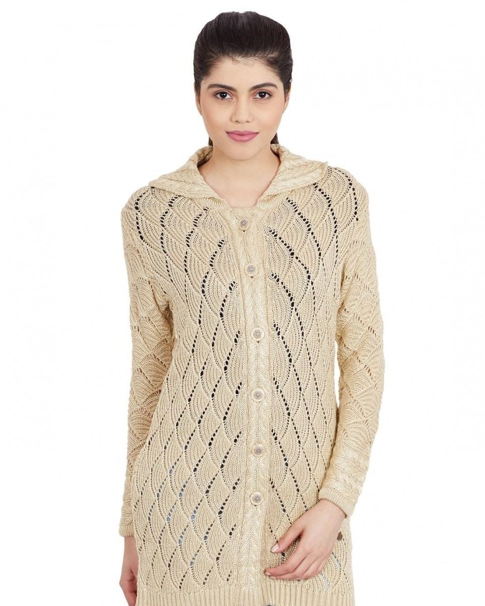 skin colored ladies knit cardigan by Monte Carlo