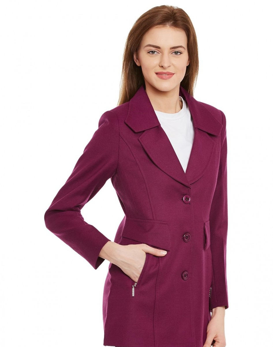 Monte Carlo stylish purple Winter coat for women