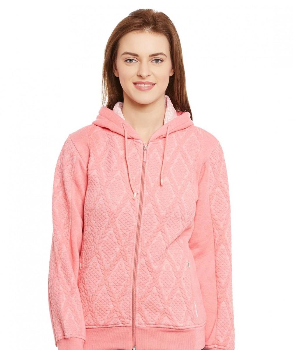 Monte Carlo light pink hooded sweatshirt for winter