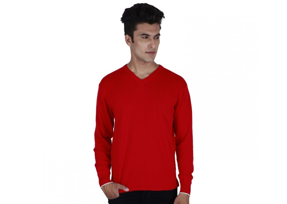 Provogue Autumn Winter COT V Sweatshirt in red color
