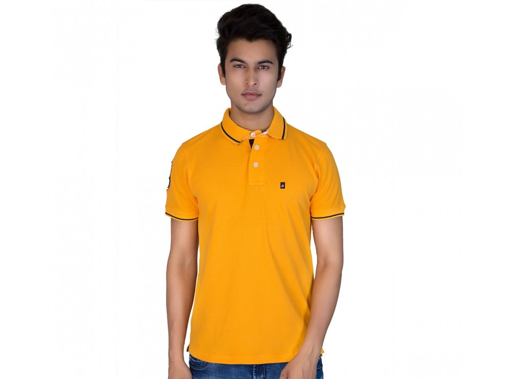 Provogue Hawk Winter T shirt with half sleeves in yellow  color