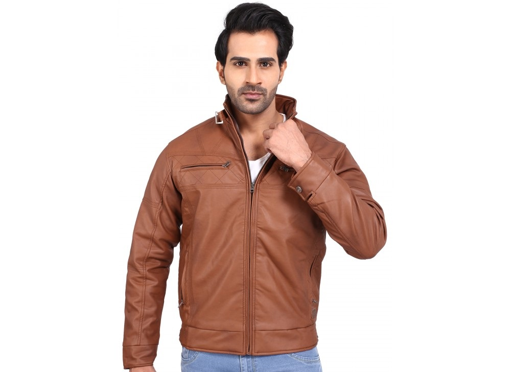 Provogue Steven Pu leather brown jacket for winter