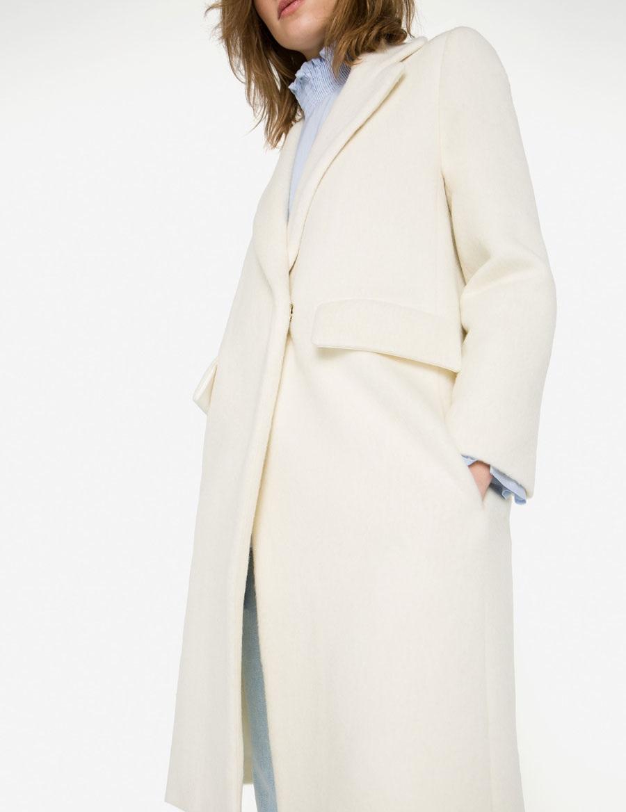 Uterque Autumn Winter Boucle coat for ladies
